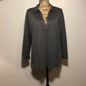 Tahari 100% linen blouse, size XL